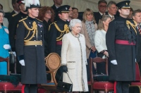 "Foto: Bei Queen Elisabeth II. von England anlässlich der Parade ""Beating the retreat"" in London 2013."